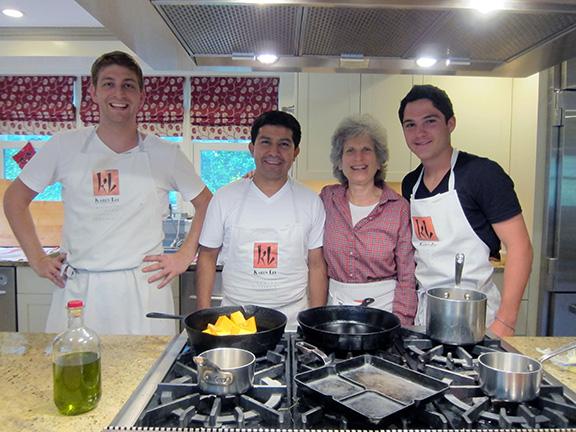 Karen Lee's catering prep staff in the Hamptons